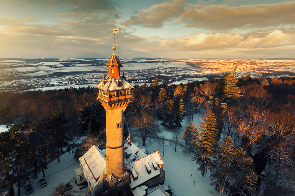 Luftbild Frankenwarte