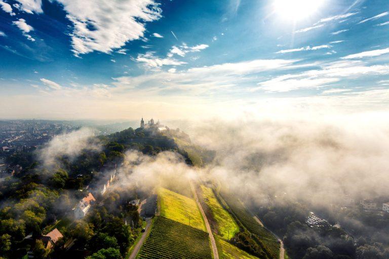 Luftbild Festung Marienberg Würzburg