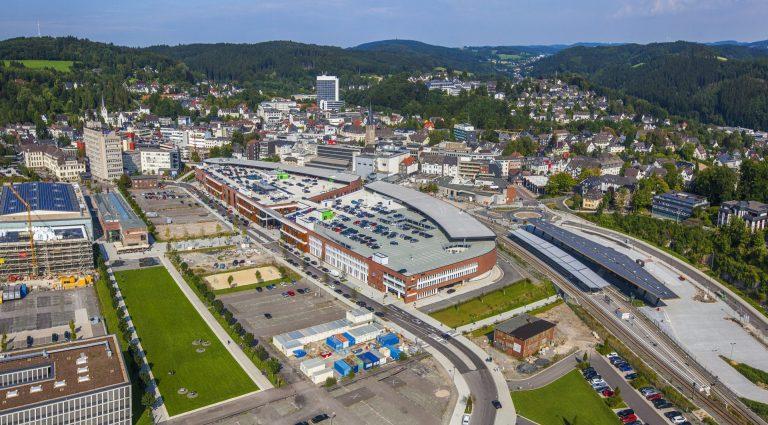 Luftbild Einkaufszentrum