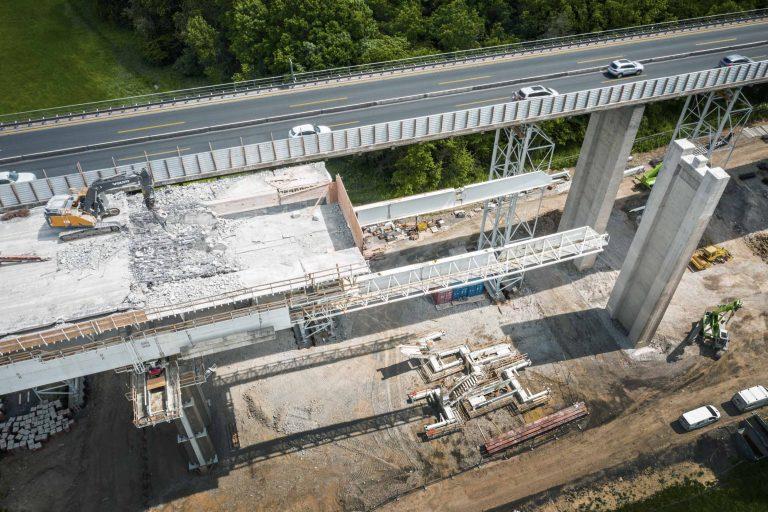 Baudokumentation Autobahn A7 Werntalbrücke
