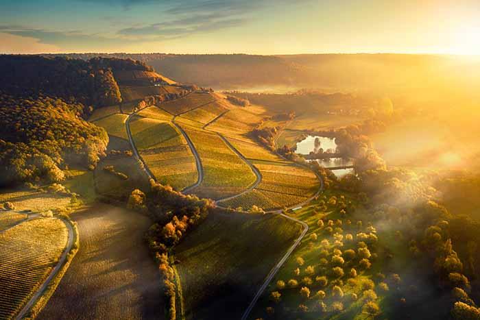 Luftbild Handthal Drohne Landschaft Oberschwarzach